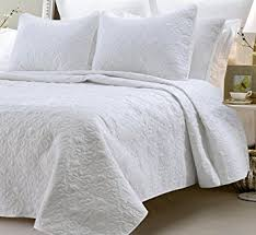 Amazon.com: Multiple Sizes - Oversized-3pc Quilted Coverlet Set ... & Multiple Sizes - Oversized-3pc Quilted Coverlet Set- White -Queen -  Exclusively by Adamdwight.com