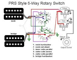 prs style switching out using a rotary harmony central here s a drawing i edited to show one example of six pup combos i don t recall if this actually matches the prs scheme or not