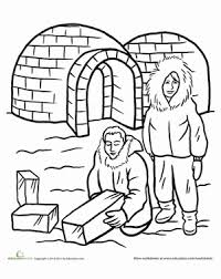 Small Picture Igloo Worksheet Educationcom