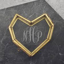 personalised mini glass heart jewellery box with monogram jpg