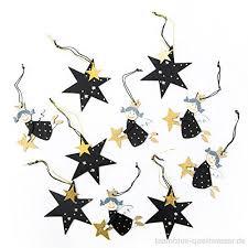 10 Stück Weihnachts Deko 5 Stück Schwarz Goldene Engel