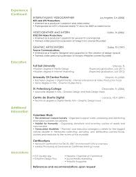 Resume Set Up Samples Budget Reporting Video Editing Invoice