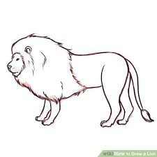 lion drawing. Simple Drawing Image Titled Outline Step 9 1 For Lion Drawing R