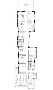 Narrow Home Plans Designs Ardross Single Storey Narrow Home Design Floor Plan