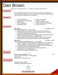 Teacher Resume Example Sample Teaching Unique Templates Download
