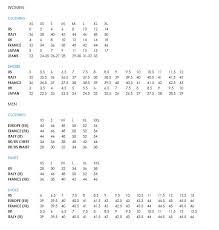 Mossimo Womens Size Chart Dolce And Gabbana Shoe Size Chart
