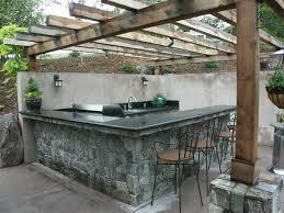 outdoor kitchen countertops best of outdoor kitchen cut into slope stone veneer finish with granite