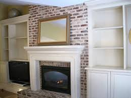 furniture accessories diy design of white biult in bookcase interior ideas white biult in bookcase with brick wall fireplace ideas white built in