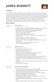 Ministry Resume Resume Templates