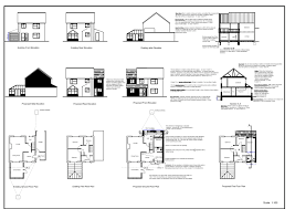 front side elevation sectional plan floor 362891 pretty building plans samples 1