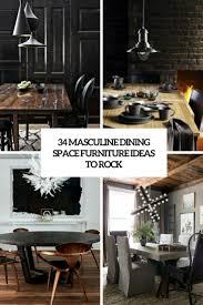 masculine furniture. 34 Masculine Dining Space Furniture Ideas To Rock