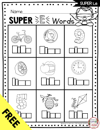 They come with two grids, easy and hard, so. Long Vowels Super E Phonics Unit Freebie Keeping My Kiddo Busy