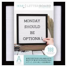 letter board wall art