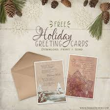 Free Holiday Photo Greeting Cards Free Printable Christmas Card New Years Greeting Card