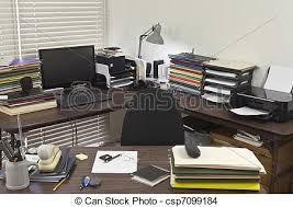 messy file cabinet. Messy Corner Office - Csp7099184 File Cabinet
