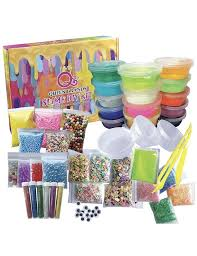 details about slime diy kit supplies 47pack 15 colourful slime add glitter glow in the dark