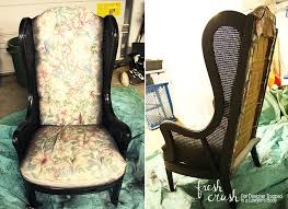 this caned wingback chair makeover is amazing come learn how to upholster a chair with