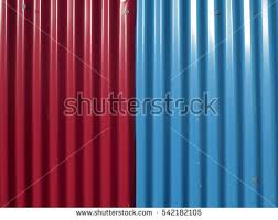 colored sheet metal colored lighty corrugated metal sheet detail stock photo royalty
