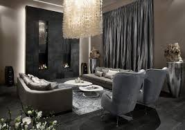 amazing black and grey living room design crystal chandelier