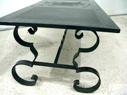 wrought iron patio coffee table black side small round with glass top tab