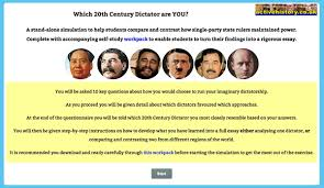 rule of th century dictators compared activehistory game