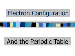 Electron Configuration And the Periodic Table. Periodic Table ...