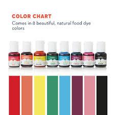 Chefmaster Liqua Gel Food Color 8 Pack All Natural Food