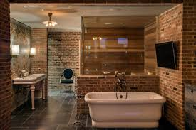 old world elegance meets new world luxury in this nyc bathroom brick effect bathroom brick effect tiles