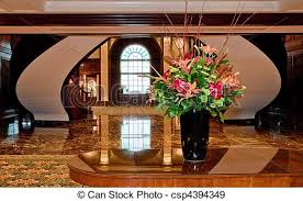 decorated office. Flower Arrangement In Decorated Office Lobby - Csp4394349 L