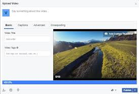 how to create a video how to create and change video cover on facebook