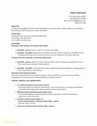 Resume Templates For New High School Graduates Fresh Resume Template