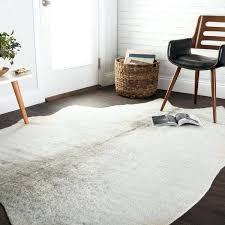 rawhide rug rawhide silver grey rug faux cowhide rug ikea