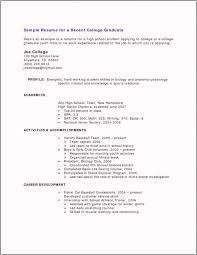 Resume Templates Recent College Graduate 10 College Graduate Resume Templates Artistfiles Revealed