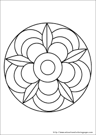 Small Picture Simple Mandalas To Print And Color Perfect Coloring Simple