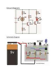 dark sensor using ldr on breadboard circuit diagram schematic diagram