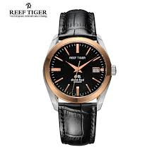 compare prices on self winding watches online shopping buy low reef tiger rt business casual watches date self winding watches for men steel case
