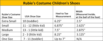 Toddler To Child Shoe Size Chart Size Charts