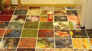 The Kitchen Floor Decoupage On The Kitchen Floor Part 2 Youtube