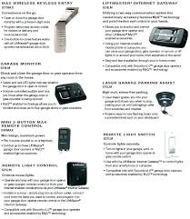liftmaster garage remote control garage door error code 1 5 codes optional accessories 4 6