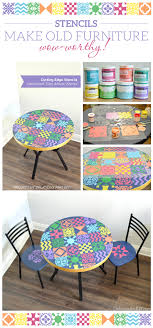 cutting edge furniture. Cutting Edge Stencils Shares A DIY Dining Table Makeover Using The Patchwork Tile Stencil Pattern. Furniture