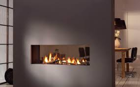 Ravishing White Wall Built In Double Sided Fireplace Insert With Double Sided Electric Fireplace