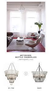 fabulous pottery barn french bottle chandelier image via