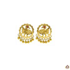 Gold New Design Tops Fancy Peacock Designer Golden Tops