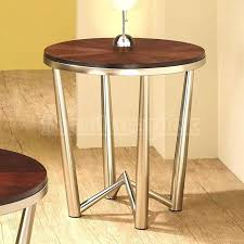 wood metal end table international concepts round pedestal end table reviews dining table metal base wood top