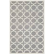 safavieh cambridge 9 x 12 hand tufted wool rug in silver and ivory cam125d 9
