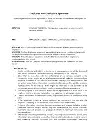 Employee Confidentiality Agreement Employee Confidentiality Agreement Example. Company Employee ...