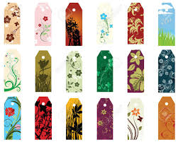 Design Bookmarks Set Of Different Vector Floral Bookmarks For Design Use