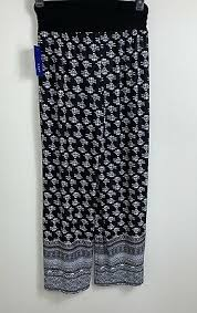 Apt 9 Palazzo Pants Black White Stripe Size Xl Nwt 36
