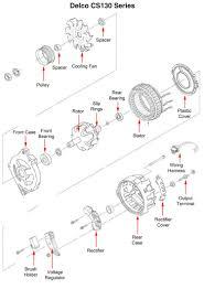Wiring diagram delco remy cs130 alternator dr