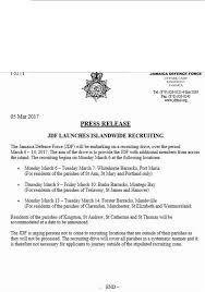 jamaica defence force form jobs postings caribbean jamaica defence force recruiting drive 2017